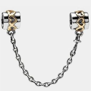 14 k and silver safety chain